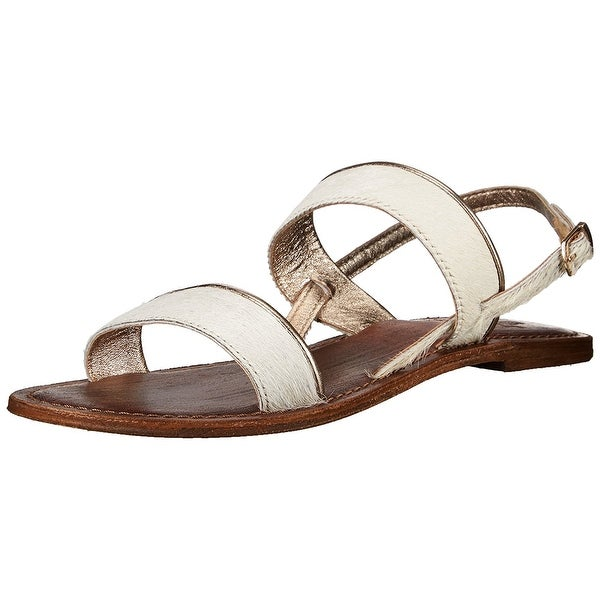 Freebird by Steven Womens Aruba Leather Open Toe Casual Slingback Sandals