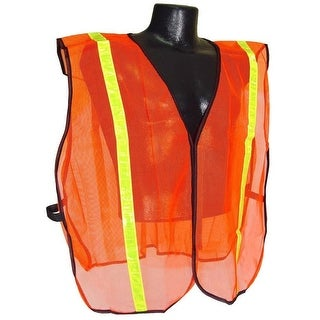"""Radians SVO1 Non Rated Safety Vest With 1"""" Tape, Orange Mesh, 2X/5X"""