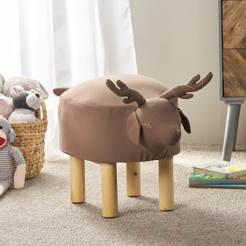 Elberta Contemporary Kids Deer Ottoman by Christopher Knight Home