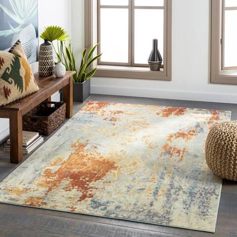 Terrie Indoor/ Outdoor Modern Abstract Area Rug