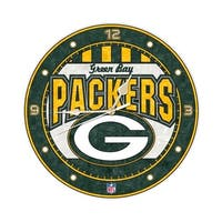 Green Bay Packers 12 Inch Art Glass Clock
