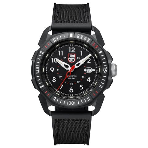 Luminox Men's XL.1001 Ice-SAR Arctic 46mm Carbonox Case Black Rubber/Fabric Strap Watch