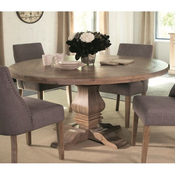 Carbon Loft Nightingale Round Wood Dining Table Brown 30 X 59 75 30 X 59 75 Overstock 22591429