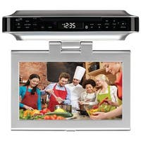 "GPX IKTD1037S 10"" Under-Cabinet DVD/CD Bluetooth(R) Player with FM Radio"