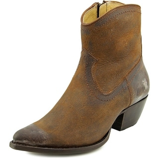 Frye Sacha Short Boot Women  Round Toe Leather Brown Ankle Boot
