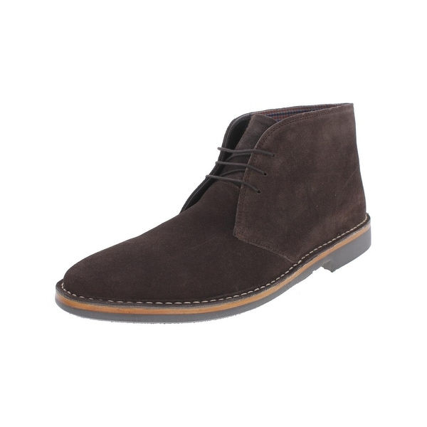 Ben Sherman Mens Clinton Chukka Boots Suede Contrast Stitch