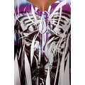 Funfash Plus Size Slimming White Tiger Face Empire Waist Womens Top Shirt - Thumbnail 2