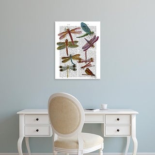 Easy Art Prints Fab Funky's 'Dragonfly Print 3' Premium Canvas Art