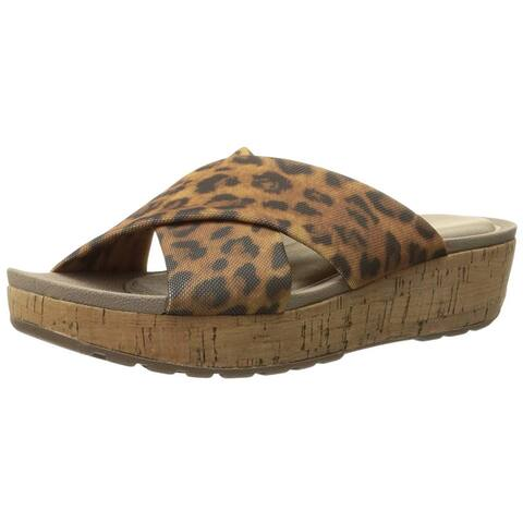 Rockport Womens Land Stretch slide Open Toe Casual Slide Sandals