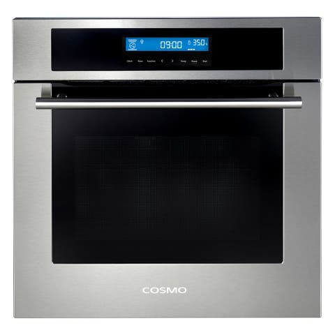 24 in. Single Electric Built-In Wall Oven with 2.5 cu. ft. Capacity, Turbo True European Convection in Stainless Steel