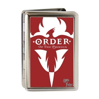 Harry Potter Order Of The Phoenix Logo Fcg Red White Business Card Holder