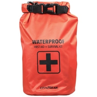 Life Gear 41 3820 130 Piece Dry Bag First Aid Survival Kit