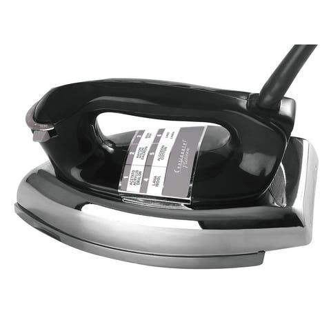 Continental Electric Cp43001 Polished Soleplate Classic Dry Iron, Black, 1000 Watt