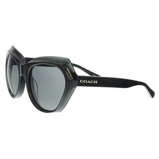 Coach HC8193 542487 Dark Grey Glitter Cat Eye Sunglasses - 55-19-140