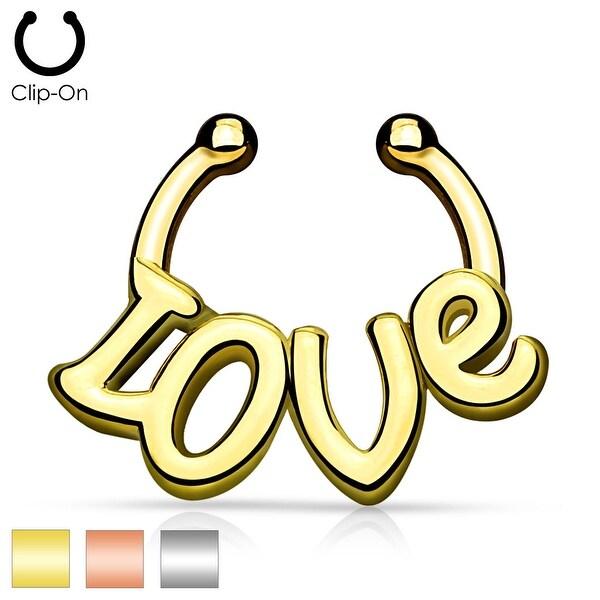 """Love"" Non-Piercing Septum Hanger (Sold Ind.)"