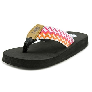 Yellow Box Nellie II Youth Open Toe Leather Multi Color Thong Sandal