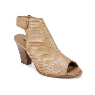 White Mountain Womens Phoenix Leather Peep Toe Casual Slingback Sandals