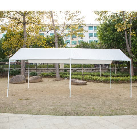 Carport Car Canopy Shelter Car Shed Patio Umbrella with 6 Foot Tubes