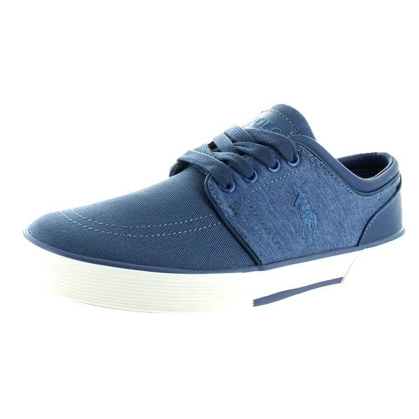 04c8c966b71 Shop Polo Ralph Lauren Faxon Low Men s Shoes Sneakers Slip On Canvas ...