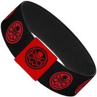 Hydra Logo Black Red Elastic Bracelet