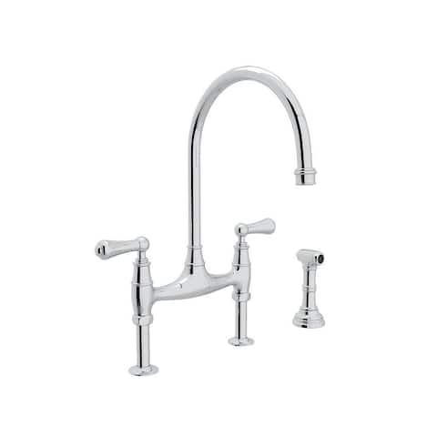 Rohl U.4719L-APC-2 Perrin and Rowe Bridge Kitchen Faucet