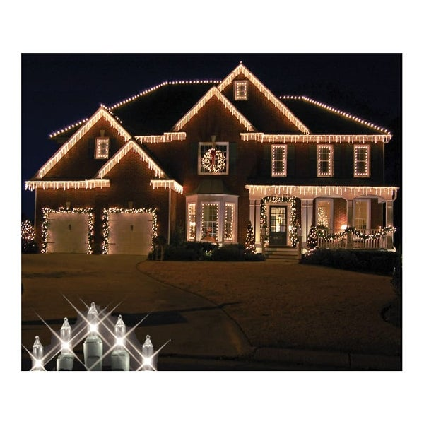 Christmas at Winterland WL-IC100-CL 100 Light Incandescent Clear Icicle String Indoor / Outdoor