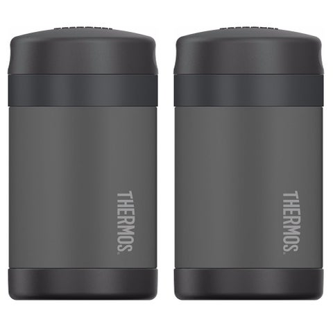 Thermos Funtainer Food Jar (16 oz/ Charcoal) (2 Pack) - charcoal