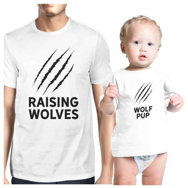 Raising Wolves White Infant T-Shirt Matching For First Fathers Day