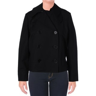 Lauren Ralph Lauren Womens Basic Jacket Double-Breasted Long Sleeve