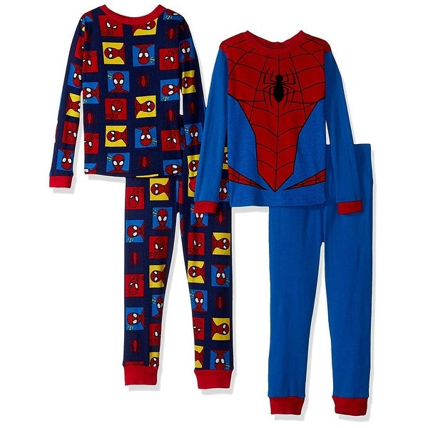 a73fc6fa8 Shop Marvel Boys 4-10 Spiderman 4-Piece Cotton Pajama Set - Blue ...