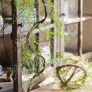 "RusticReach Artificial Maidenhair Fern Vines 55"" Long"