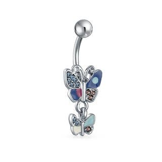 Bling Jewelry Imitation Aquamarine CZ Butterfly Belly Ring Stainless Steel|https://ak1.ostkcdn.com/images/products/is/images/direct/a2634c2fd9e044e7007df48d0eed041a9d04168b/Bling-Jewelry-Imitation-Aquamarine-CZ-Butterfly-Belly-Ring-Stainless-Steel.jpg?impolicy=medium