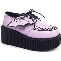 Demonia Women's Creeper 205 Creeper Lavender Vegan Leather