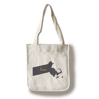 MA - Home State - Gray on White - LP Artwork (100% Cotton Tote Bag - Reusable)