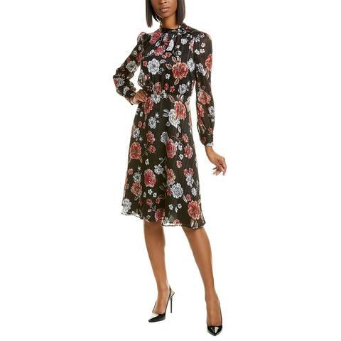 Maggy London Shadow Stripe Midi Dress