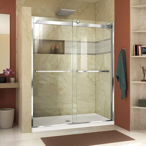 "DreamLine Essence-H 44-48 in. W x 76 in. H Semi-Frameless Bypass Shower Door - 44"" - 48"" W - 44"" - 48"" W"