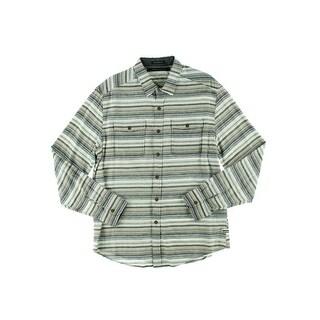 Sean John Mens Twill Cuff Sleeves Button-Down Shirt - 3XL
