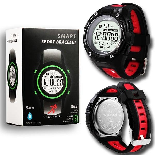 Indigi® Waterproof Bluetooth 4.0 Sports Watch + Call/SMS Notification + Pedometer + Calorie Counter + Stopwatch