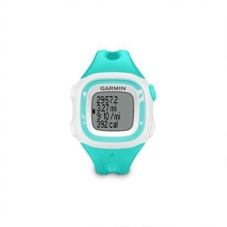 Garmin Forerunner 15 Bundle GPS WATCH, Small FITNESS WATCH, Teal & White - Teal/White
