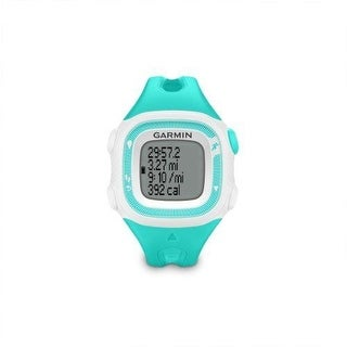 Garmin Forerunner 15 GPS WATCH, Small Running FITNESS WATCH, Teal & White - Teal/White