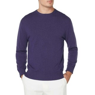 Bloomingdales Mens 2-Ply Cashmere Crewneck Sweater Small S Blueberry Knitwear