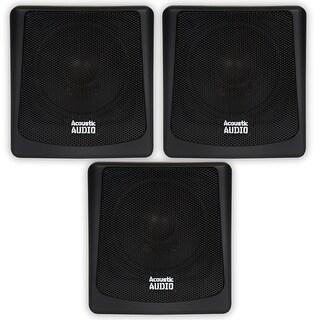 Acoustic Audio AA051B Mountable Indoor / Outdoor Speakers 3 Piece Set AA051B-3S