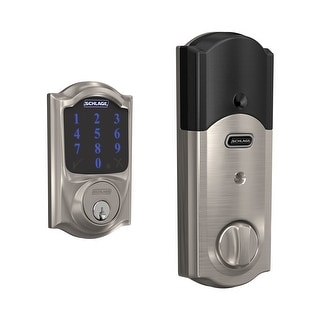 Schlage BE469-CAM  Connect Camelot Touchscreen Electronic Deadbolt with Z-Wave Technology