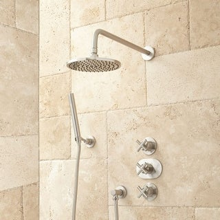 Merveilleux Signature Hardware 925945 Callas Thermostatic Shower System With Rainfall  Shower Head And Hand Shower   Rough