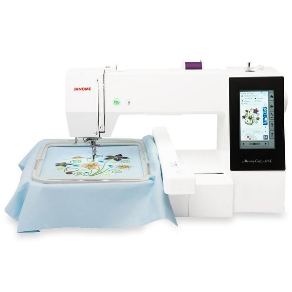 "Janome Memory Craft 500E Embroidery Machine - Refurbished - 18"" x 9"" x 15"". Opens flyout."