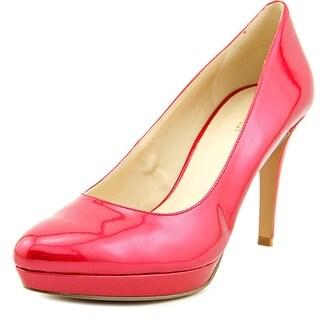 Nine West Beautie Women Open Toe Synthetic Red Platform Heel