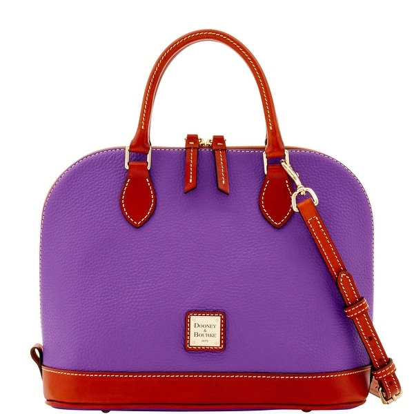 Dooney & Bourke Pebble Grain Zip Zip Satchel (Introduced by Dooney & Bourke at $198 in Sep 2016) - Violet