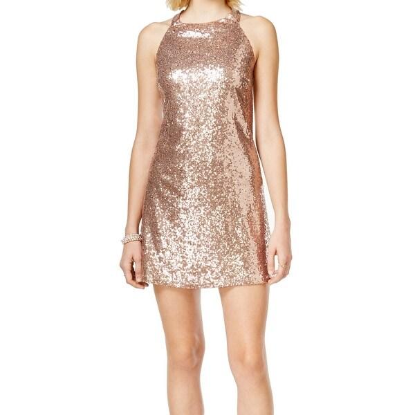2ed2cb5601 Speechless NEW Rose Gold Size Medium M Junior Sequin Sheath Dress