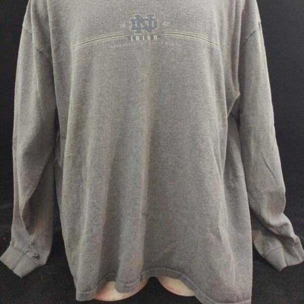Shop Jansport Mens Shirt Xl Large Gray Notre Dame Irish Long Sleeve