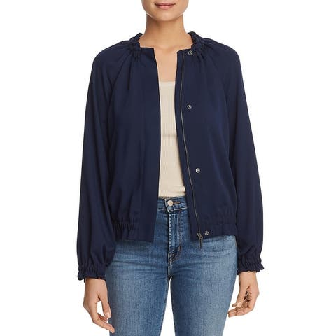 Kenneth Cole Womens Bomber Jacket Fall Gathered